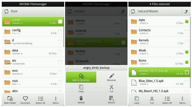 How to Use Aroma File Manager on Android