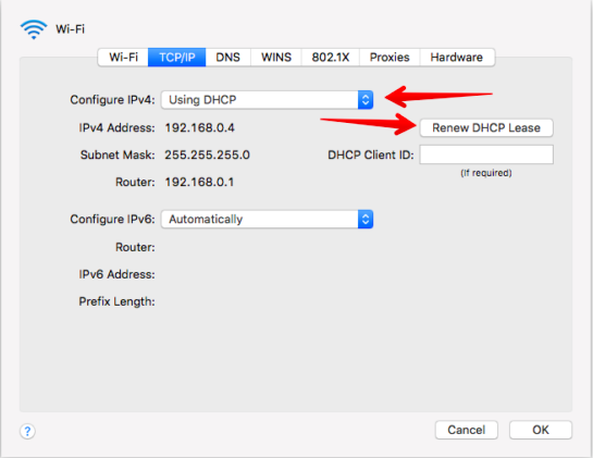 Modify Settings Of Both TCP And IP