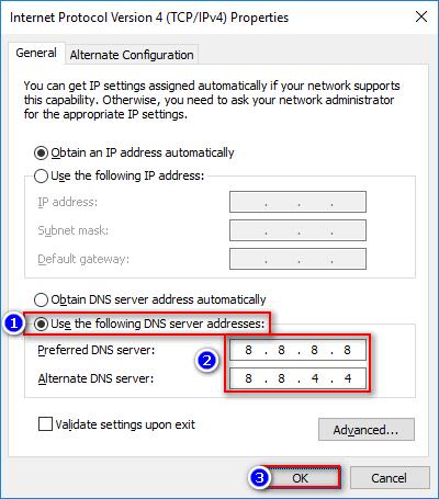 Modify DNS