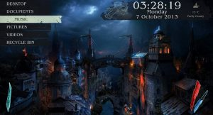 Medieval City - Rainmeter skins & themes