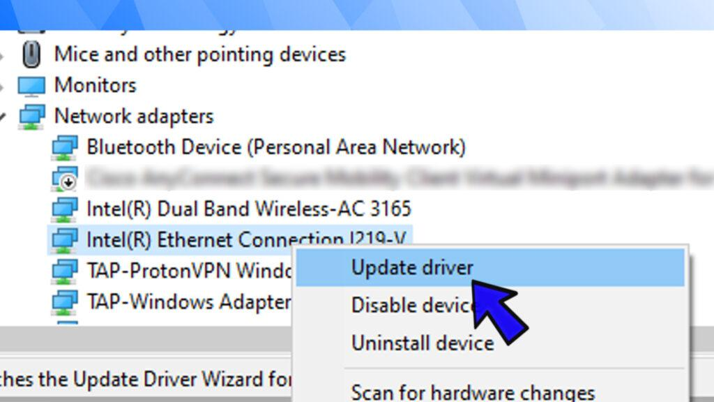 update ethernet network driver