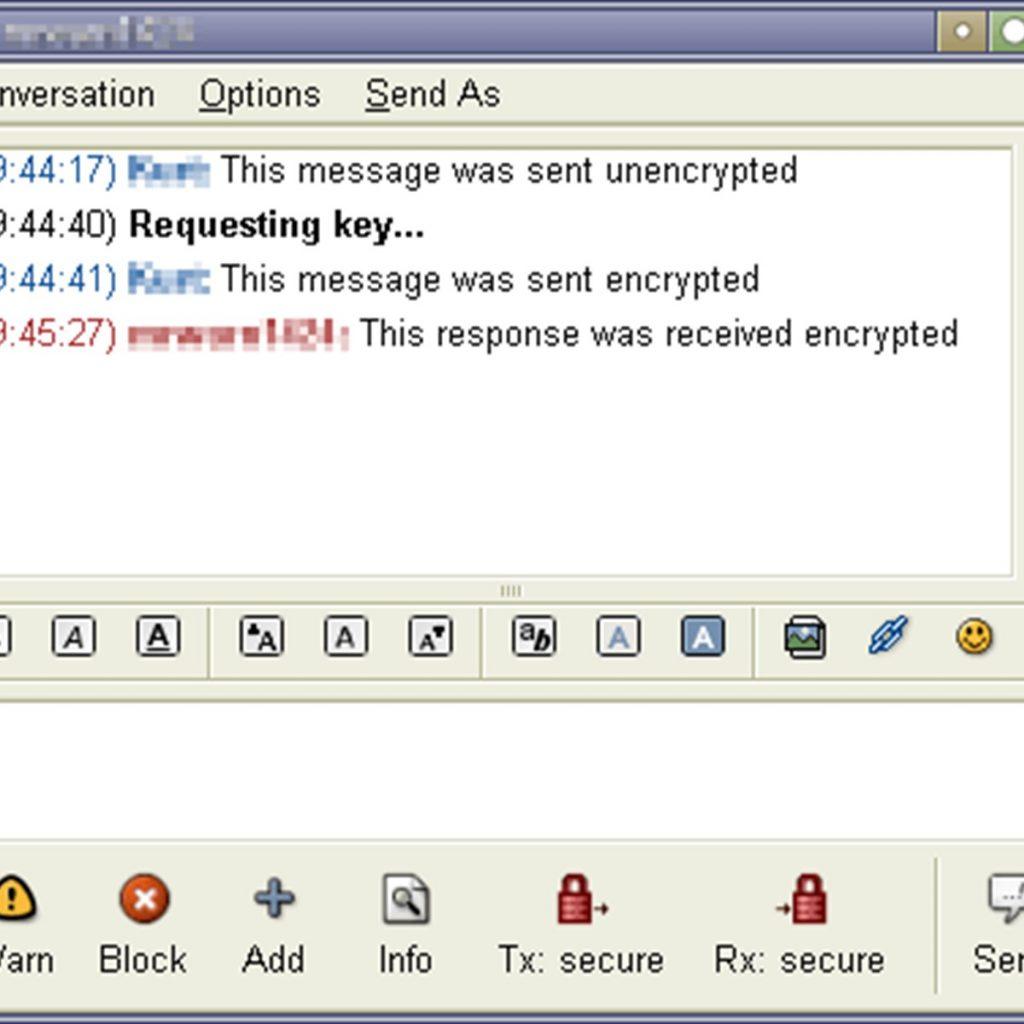 Pidgin encryption
