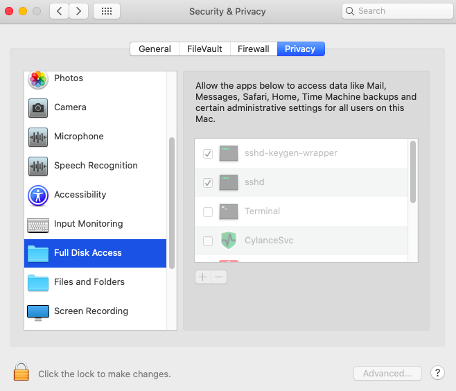 How to change security preferences on a Mac