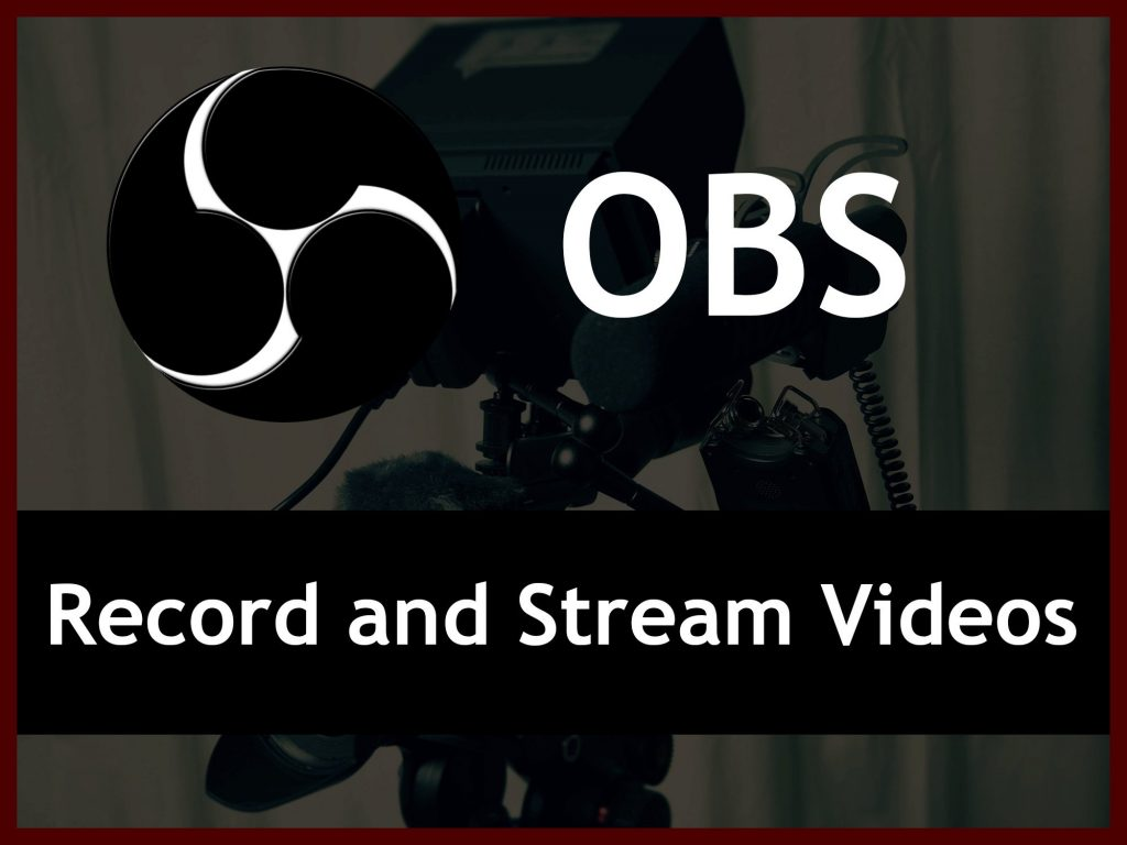 Machine Recording OBS Software