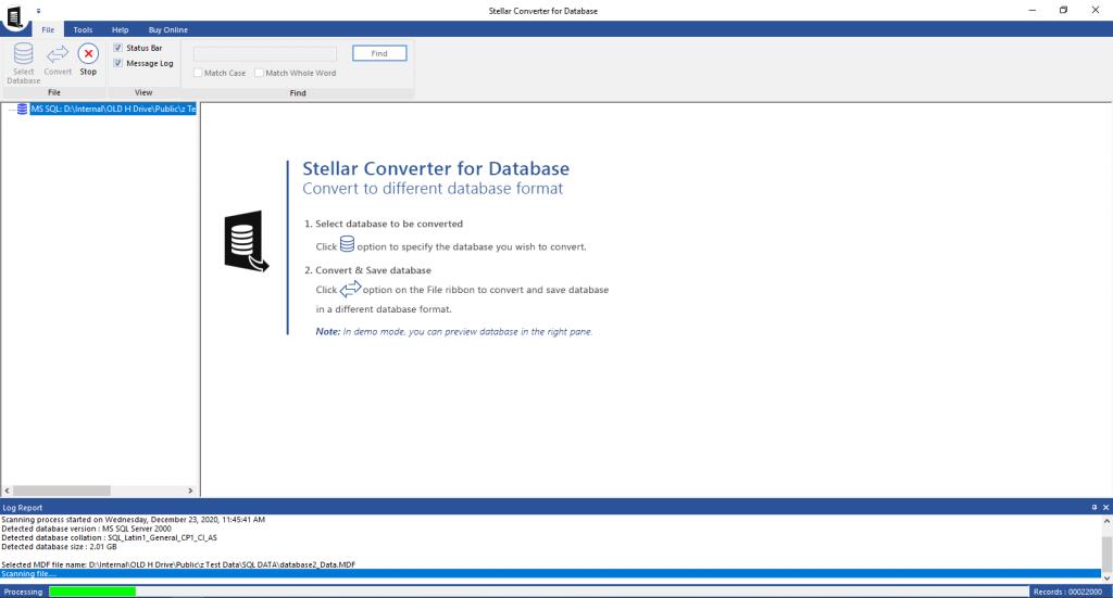 Stellar Converter for Database